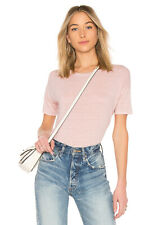 VELVET By Graham & Spencer India Half Sleeve Linen Tee Shirt Top Pink S $128 B6