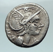 Roman Republic 109BC Rome Authentic Ancient Silver Coin Victory Chariot i80478