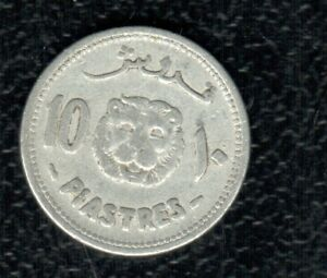 LEBANON 10 PIASTRES 1952