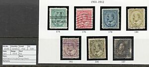 1805 CANADA: SG173-87 KEVII Set of 7 to 50c. 1903. Fine. c£180