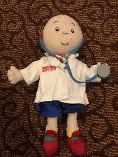 """CAILLOU PLUSH DOLL 11"""" tall Doctor Costume 2002 CINAR Removable Clothing"""