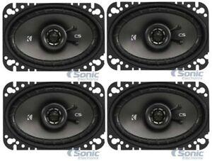 """4) KICKER 43CSC464 4x6"""" 600W 4-Ohm 2-Way Coaxial Car Audio Speaker Package"""