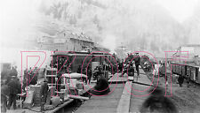 Denver & Rio Grande Western (D&RGW) Creede Station in 1900 - 8x10 Photo