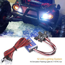 12 LED Lighting System Kit Simulation Flashing Lights for 1/10 1/8 RC Car Truck❤