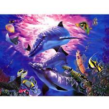 UN3F Dolphin Fish Sea Ocean 5D Diamond DIY Painting Craft Kit Home Decor