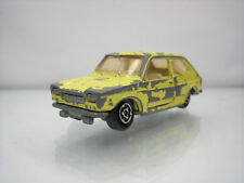 Diecast Majorette Fiat 127 No. 203 in Yellow Good Used Condition