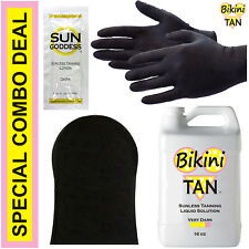 Best Spray Tan Solution - VERY DARK - 16 oz + Sunless Tanning Self Tanner Lotion