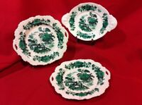 Vintage 3pc Handpainted China Handle Plates