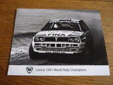 LANCIA DELTA 1991 CAMPIONI DEL MONDO RALLY PRESS PHOTO