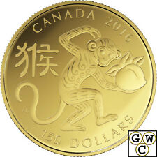 2016 Gold 18K 'Year of the Monkey' $150 Proof 18K Gold Coin (17426)