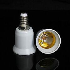 2 X E14 to E27 Edison Screw Light Bulb Socket Extender Adaptor Converter Holder