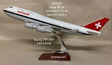 Standmodell BOEING 747-357 der SWISSAIR schwere Metall-Ausführung
