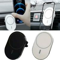15W Mag Safe Car Vent Mount Magnetic Wireless Charger For iPhone 12  Hot Sale
