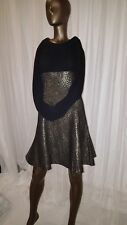 TRAFFIC PEOPLE BLACK/GOLD EVENING DRESS SIZE S
