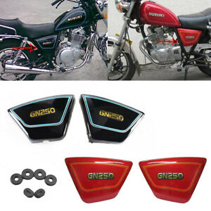 2pcs Motorcycle Frame Side Cover Panel For Suzuki GN250 1982-2001 83 2000 1999