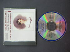 CD: Clara Schumann COMPLETE WORKS FOR PIANO Jozef De Beenhouwer PARTRIDGE 1990