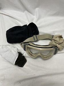 US Military ESS Profile NVG Ballistic Goggles - Desert Tan Clear & Smoke Lenses