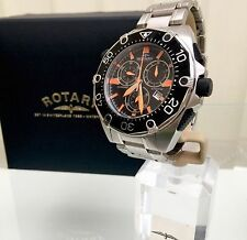 Rotary Men's Swiss Made Watch RRP£339 Aquaspeed Divemeter Black/Orange (r30