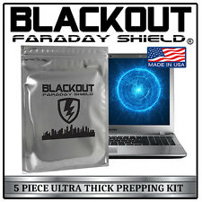 FARADAY CAGE EMP ESD BAGS 5 PC VARIETY SIZE PREPPER KIT BY BLACKOUT®