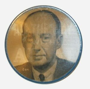1952 ADLAI STEVENSON VARIVUE FLASHER campaign pin pinback button badge political