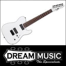 ESP LTD TE-407 7 String Satin White Finish Electric Guitar +EMG Pickups RRP$1599