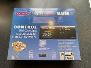 Belkin Omni Cube F1D092 PS2 2-port KVM Switch