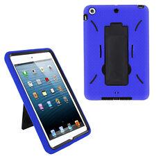 Blue Hybrid Shockproof Hard Case Skin Stand for Apple iPad Mini 1 2 3 7.9-inch