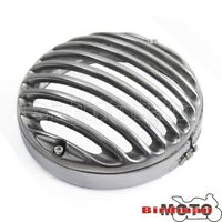 "5 3/4"" Stone Prison Grill Guard Slotted Headlight Cover Motorcycle For Harley"