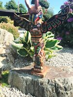 Totempfahl 50 cm, Marterpfahl, IndianerPfahl, Wappenpfahl,totem pole,totem stake