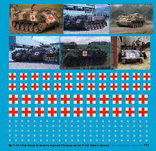 Peddinghaus 1/48 3312 Rojo cruces para inglés moderno Vehículos FV 432