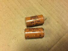2 Vintage 1960s Astron 4 uf 150v Paper Capacitors Guitar Tube Amp Caps (qty avai