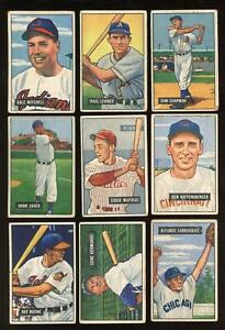 1951 Bowman - Lot of 35 Different - Good to Good+