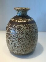Vintage Salt Glazed Stoneware Studio Art Pottery Vase/Vessel, Signed, A-351