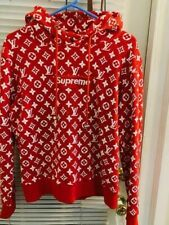 Red Hoodie  with logo SUPREME size M