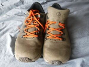 Mens Merrel Sneaker Hiking Sneaker Taupe Size 10 Pre Owned