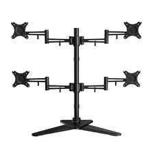 Quad Monitor Free Standing Desk Mount  four LCD Arm Stand upto 19 22 24 27 28""