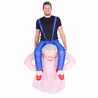 Adult Inflatable Old Lady Granny Grandma Fancy Dress Costume Outfit Suit Stag Do