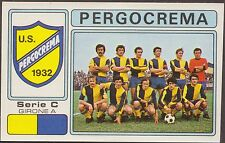 CALCIATORI PANINI 1976/77 542 PERGOCREMA SQUADRA + STEMMA NEW