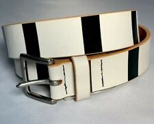 Yohji Yamamoto Pour Homme Vintage White And black leather belt
