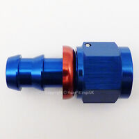 AN -4 AN4 JIC Straight Swivel PUSH ON BARB Tail Fuel Oil Braided Hose Fitting