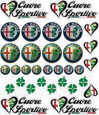 kit 32 adesivi alfa romeo quadrifoglio cuore sportivo mito 156 giulietta COD181