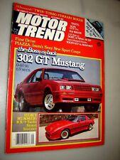 1981 Motor Trend Magazine 302 GT Mustang/RX-7 Turbo Street Stormer/Ferrari