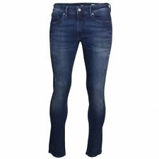 BOSS Casual Men's Blue Wash Orange 72 Skinny Jeans