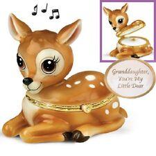 My Little Dear Granddaughter Trinket  Music Box Bradford Exchange