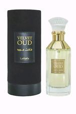 LATTAFA VELVET OUD EAU DE PARFUM 3.4oz/100ml Unisex Perfume Free Shipment.