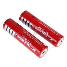 New 2pcs 18650 3.7V 4800mAh Rechargeable Li-ion Battery for LED Flashlight Torch