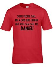 Daniel T-Shirt Funny Boys Men's Personalise Any Name Gift Boys 21st 60th 40th