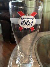 Kronenbourg 1664 Beer Pilsner Glass Half Pint 2043 Embossed Bottom 16 Ounces
