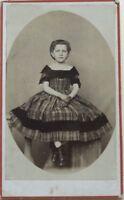Ragazzina Carte de visite CDV Francia Foto N° P Vintage Albumina c1865