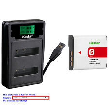 Kastar Battery LZD2 Charger for Sony NP-BG1 NP-FG1 Sony Cyber-shot DSC-H7 Camera